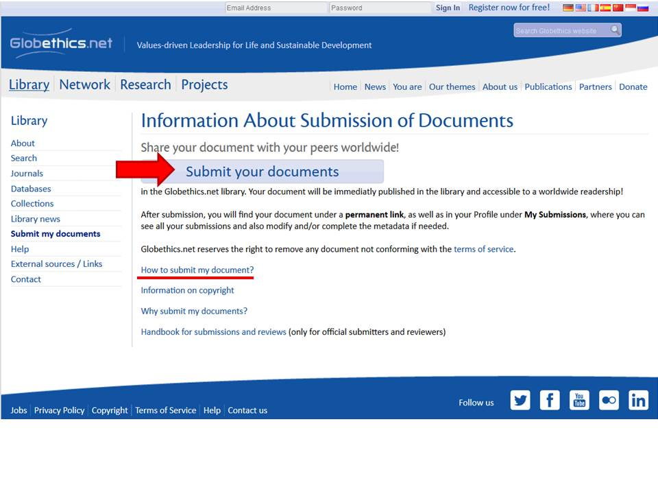 How to submit my documents