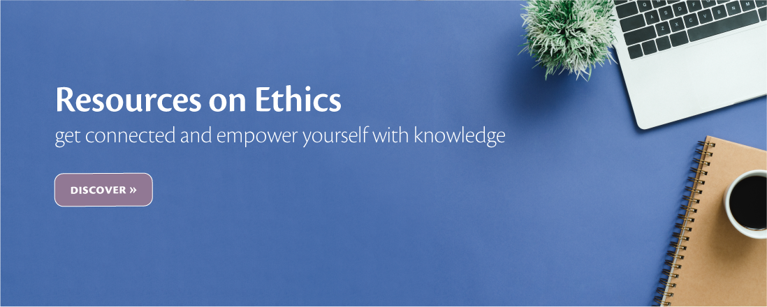 Laptop with coffee. Resources on Ethics get connected and empower yourself with knowledge