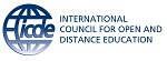 International Council for open and distance education logo