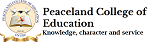 Peaceland College of Education logo