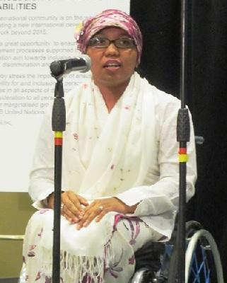 Risnawati Utami - Indonesia - Risnawati Utami was affected by polio when she was four years old and throughout her life, she has experienced how disabled individuals, like herself, are denied fair treatment in her home country. To address this, Risnawati established an NGO called Ohana, a Hawaiian word that means brotherhood, which is also an acronym for Organisasi Handicap Nusantara (The Archipelago Difable Association). Along with Ohana's co-founder, Risnawati fights for children's and disabled women's rights, while advocating for better policies for human rights and public services at the House of Representatives. In her advocacy work, Risnawati created the provincial regulation on the protection and fulfillment of the rights of persons with disabilities through the Governor's Office in both Yogyakarta Province and Bali. One of her biggest achievements is the ratification of CRPD (Convention on the Rights of Persons with Disabilities) in Indonesia. In addition, Risnawati is widely respected and known for single-handedly producing thousands of affordable wheelchairs from a modest home industry in the city of Yogyakarta, Indonesia with only few dollars as a seed donation.