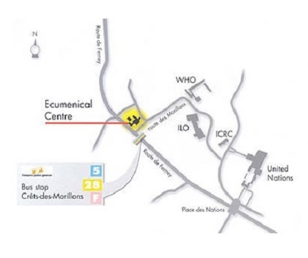 Map To Ecumenical Centre